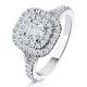 Anastasia GIA Diamond Halo Engagement Ring in Platinum 1.30ct G/VS1 - image 1