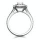 Anastasia GIA Diamond Halo Engagement Ring in Platinum 1.30ct G/VS1 - image 3
