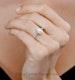 Diana GIA Diamond Pear Halo Engagement Ring Platinum 1.60ct G/SI1 - image 4