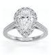 Diana GIA Diamond Pear Halo Engagement Ring Platinum 1.60ct G/SI1 - image 3