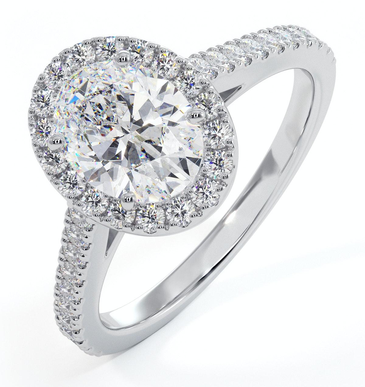 Georgina GIA Oval Diamond Halo Engagement Ring Platinum 1.55ct G/VS1