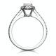 Georgina GIA Oval Diamond Halo Engagement Ring Platinum 1.30ct G/SI1 - image 3