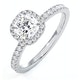Beatrice GIA Diamond Halo Engagement Ring 18K White Gold 1.25ct G/SI2 - image 1