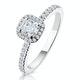 Beatrice GIA Diamond Halo Engagement Ring in Platinum 1ct G/SI2 - image 1
