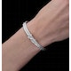 Allura Collection Twisted Diamond Bangle 0.02ct in 925 Silver - ud3263 - image 4