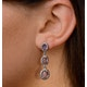 Amethyst Drop Earrings in Sterling Silver - UG3245 - image 4
