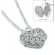 Tesoro White Topaz Vintage Heart Locket Necklace in 925 Silver - image 4