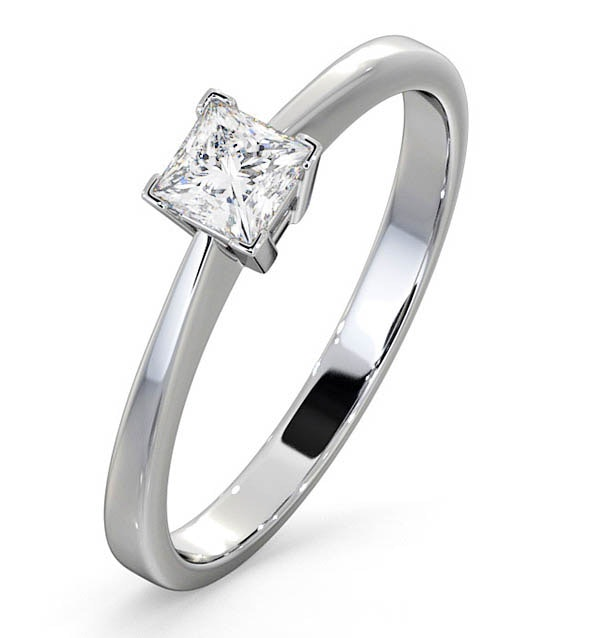 Engagement Ring Certified Lauren 18K White Gold Diamond 0.33CT-F-G/VS