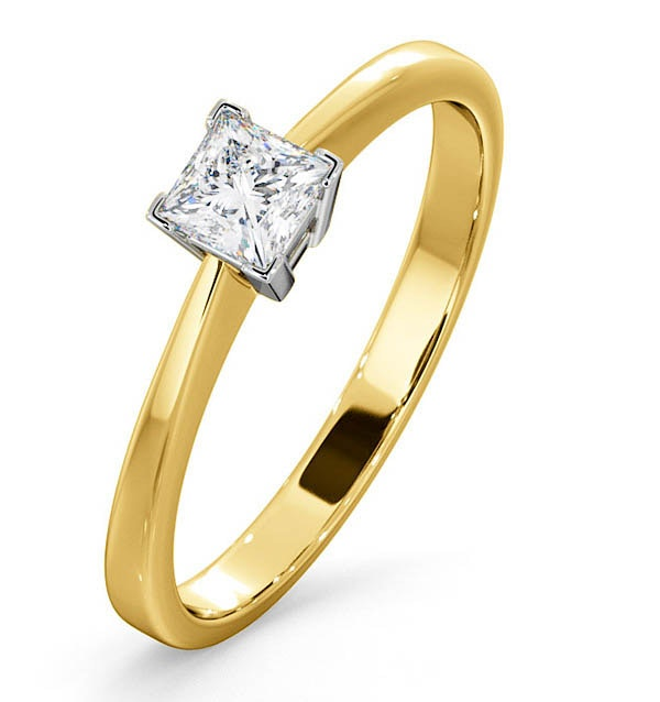 Certified Lauren 18K Gold Diamond Engagement Ring 0.33CT-F-G/VS