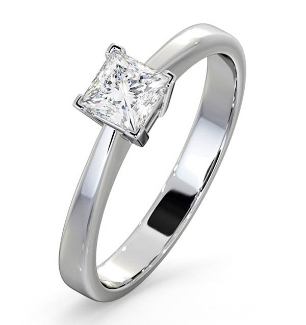 Certified Lauren Platinum Diamond Engagement Ring 0.50CT-G-H/SI