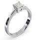 Certified Lauren Platinum Diamond Engagement Ring 0.50CT-G-H/SI - image 2