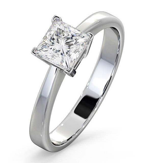 Certified Lauren Platinum Diamond Engagement Ring 0.75CT-F-G/VS