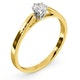 Certified Low Set Chloe 18K Gold Diamond Engagement Ring 0.25CT - image 2