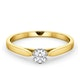 Certified Low Set Chloe 18K Gold Diamond Engagement Ring 0.25CT - image 3