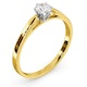 Certified Low Set Chloe 18K Gold Diamond Engagement Ring 0.33CT-F-G/VS - image 2