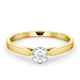 Certified Low Set Chloe 18K Gold Diamond Engagement Ring 0.33CT-F-G/VS - image 3