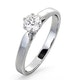 Certified 0.50CT Chloe Low Platinum Engagement Ring G/SI2 - image 1