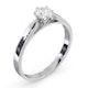 Certified 0.50CT Chloe Low Platinum Engagement Ring G/SI2 - image 2