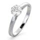 Certified 0.70CT Chloe Low Platinum Engagement Ring G/SI2 - image 1