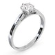 Certified 0.70CT Chloe Low Platinum Engagement Ring G/SI2 - image 2