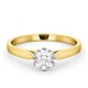 Certified Low Set Chloe 18K Gold Diamond Engagement Ring 0.75CT - image 3