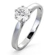 Certified 0.90CT Chloe Low Platinum Engagement Ring E/VS2 - image 1