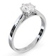 Certified 0.90CT Chloe Low Platinum Engagement Ring E/VS2 - image 2