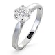 Certified 1.00CT Chloe Low Platinum Engagement Ring G/SI2 - image 1