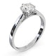 Certified 1.00CT Chloe Low Platinum Engagement Ring G/SI2 - image 2