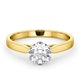 Certified 1.00CT Chloe Low 18K Gold Engagement Ring E/VS2 - image 3