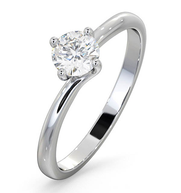 Engagement Ring  Certified Lily 18K White Gold Diamond 0.50CT