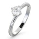 Engagement Ring  Certified Lily 18K White Gold Diamond 0.50CT - image 1