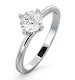 Certified 0.70CT Lily 18K White Gold Engagement Ring G/SI1 - image 1