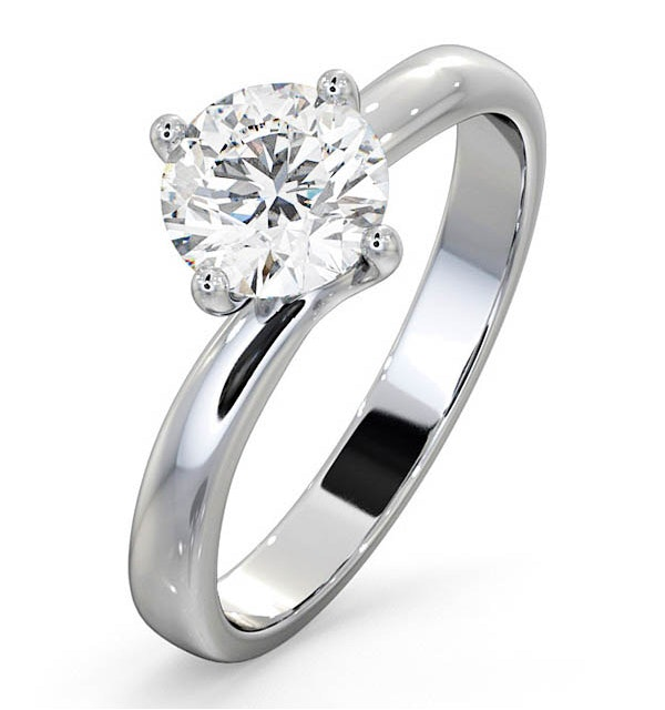 Certified Lily 18K White Gold Diamond Engagement Ring 1.00CT - image 1
