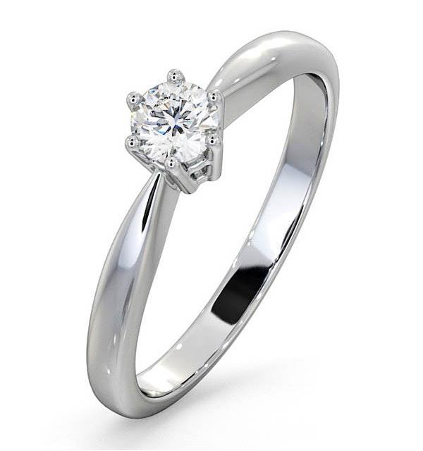 Engagement Ring High Set Chloe 18K White Gold Diamond 0.25CT H/SI - image 1