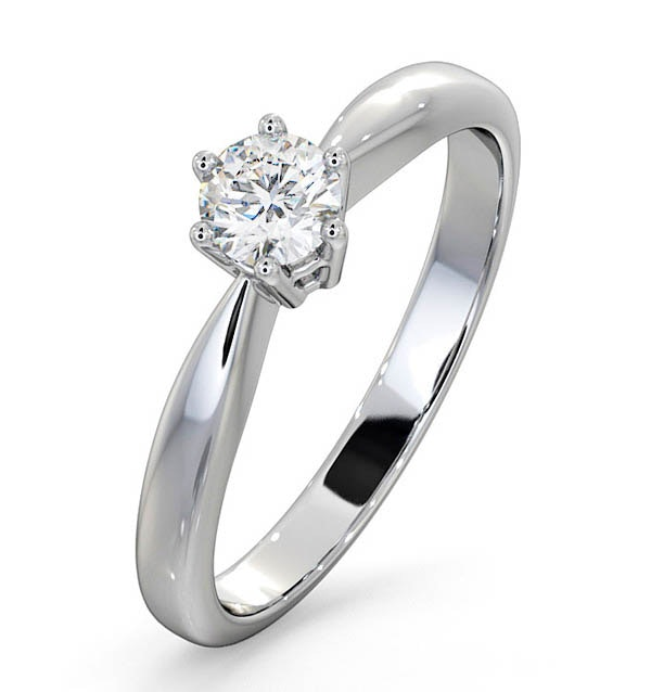 Engagement Ring Certified Diamond 0.33CT H/SI High Set Chloe18K Gold