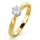 Certified High Set Chloe 18K Gold Diamond Engagement Ring 0.33CT - image 1
