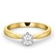 Certified High Set Chloe 18K Gold Diamond Engagement Ring 0.33CT - image 3