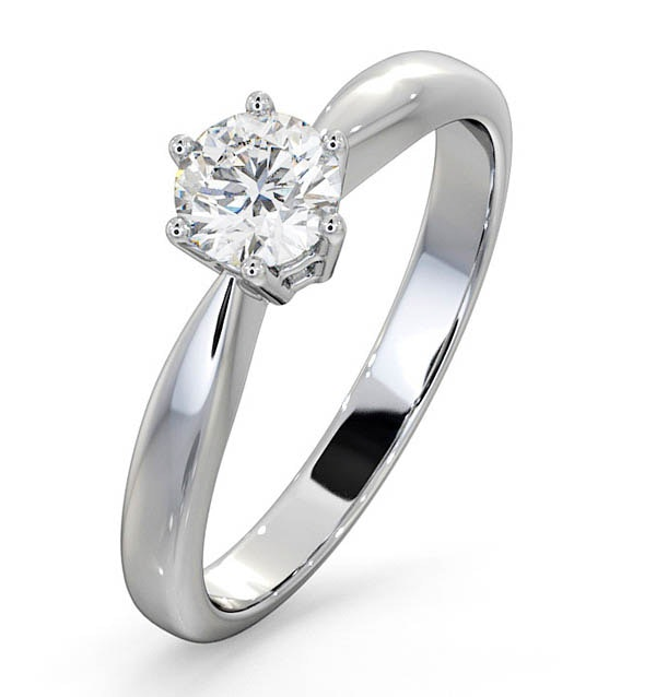 Certified 0.50CT Chloe High Platinum Engagement Ring E/VS1
