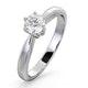 Certified High Set Chloe 18K White Gold Diamond Engagement Ring 0.50CT - image 1