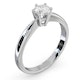 Certified 0.50CT Chloe High Platinum Engagement Ring G/SI2 - image 2