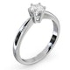 Certified High Set Chloe 18K White Gold Diamond Engagement Ring 0.50CT - image 2