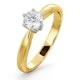 Certified 0.50CT Chloe High 18K Gold Engagement Ring E/VS1 - image 1