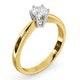 Certified 0.50CT Chloe High 18K Gold Engagement Ring E/VS1 - image 2