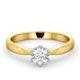 Certified 0.50CT Chloe High 18K Gold Engagement Ring E/VS1 - image 3