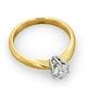 Certified 0.50CT Chloe High 18K Gold Engagement Ring E/VS1 - image 4