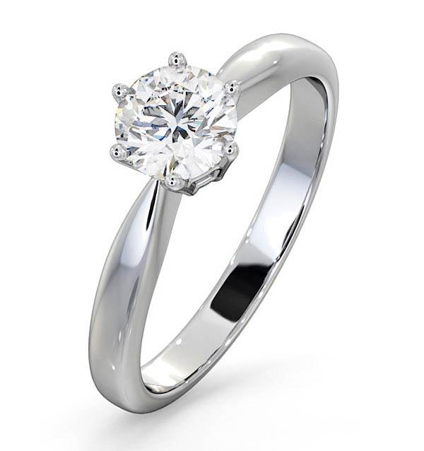 Certified High Set Chloe 18KW DIAMOND Engagement Ring 0.75CT