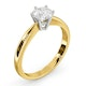 Certified 0.70CT Chloe High 18K Gold Engagement Ring G/SI2 - image 2