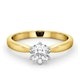 Certified 0.70CT Chloe High 18K Gold Engagement Ring G/SI2 - image 3