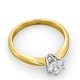 Certified 0.70CT Chloe High 18K Gold Engagement Ring G/SI2 - image 4